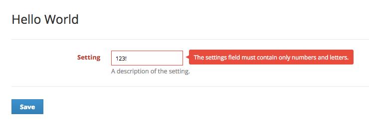 JS Validation Error