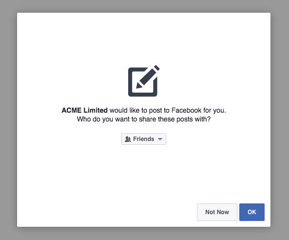 Facebook Access Token Step 2