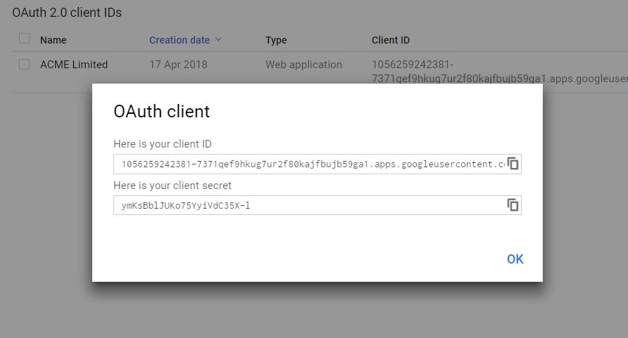 OAuth Client ID & Secret