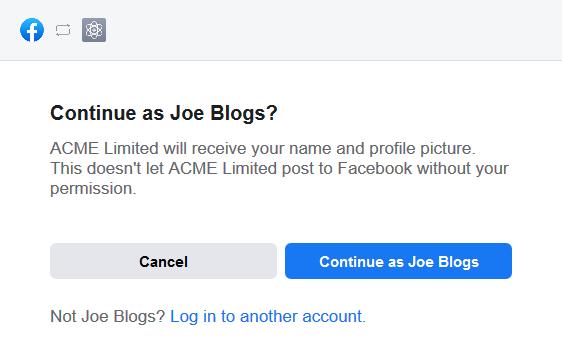 Facebook Access Token Step 1