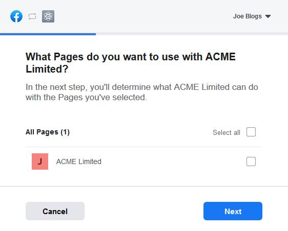 Facebook Access Token Step 2