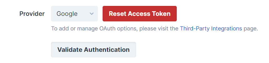 Reset Access Token