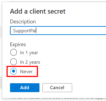 Add Client Secret