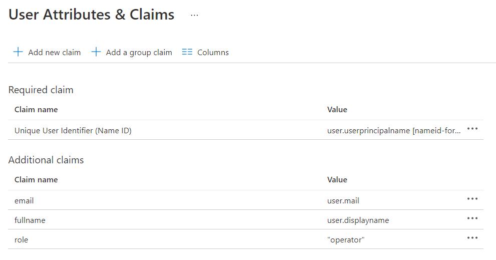 Microsoft 365 - User Attributes & Claims
