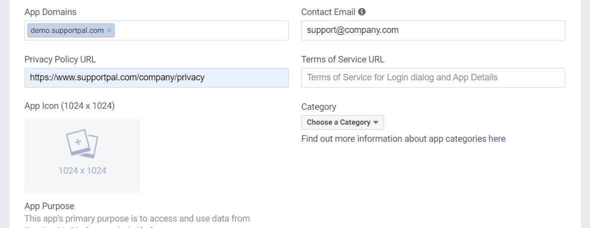Facebook App Domains